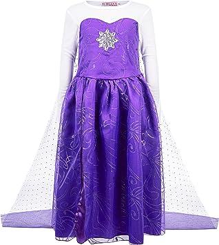 Diversos diseños: Azul, Verde o lila – Niña Frozen Frozen Elsa ...