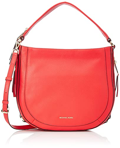 1ebab93019 Image Unavailable. Image not available for. Color  MICHAEL Michael Kors  Julia Medium Leather Shoulder Bag Coral Reef