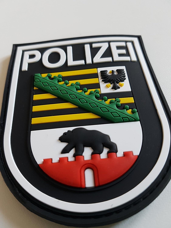 Atg Ärmelabzeichen Polizei Sachsen Anhalt 3 D Rubber Patch Farbig Auto