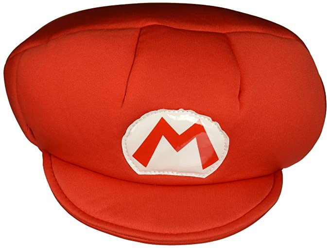 3270d045 Amazon.com: Nintendo Super Mario Brothers Mario Child Hat, One Size ...