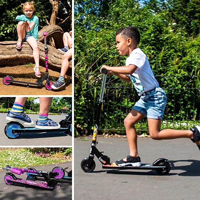 Amazon.com: Bopster - Patinete plegable con 2 ruedas para ...