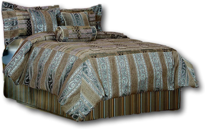 Tache Home Fashion 14199A-CK 6 Piece Winter FROST Comforter Set, California King