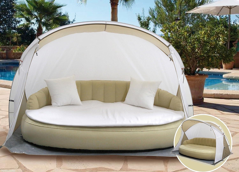 Amazon.de: Dekovita Air-Lounge 220x130cm aufblasbare Sonneninsel ...