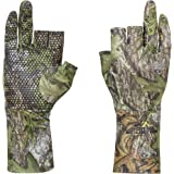 North Mountain Gear Mossy Oak Camouflage Hunting Glove - Lightweight Glove Liner