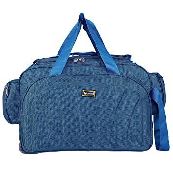 N Choice Unisex Polyester Waterproof Lightweight 40 L Luggage Travel Duffel  Bag with 2 Wheels (Blue)  Amazon.in  Bags, Wallets   Luggage 3149e8cc76