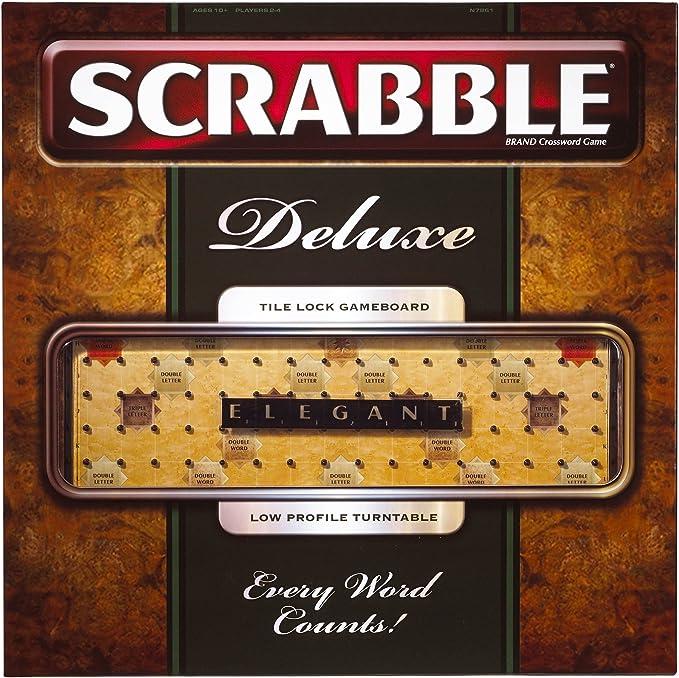 Mattel Juego Scrabble Deluxe [versión en inglés]: Amazon.es: Juguetes y juegos
