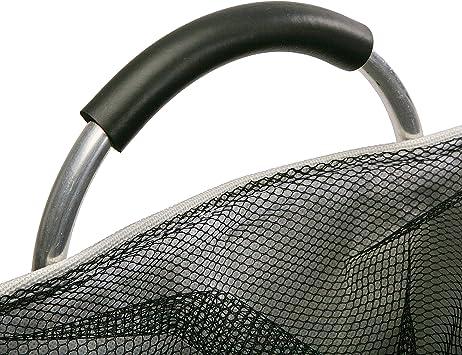 Versa 22000015 Cesto de Ropa para la Colada con Asas Plegable Black Line 48 x 38 x 38 cm Poli/éster