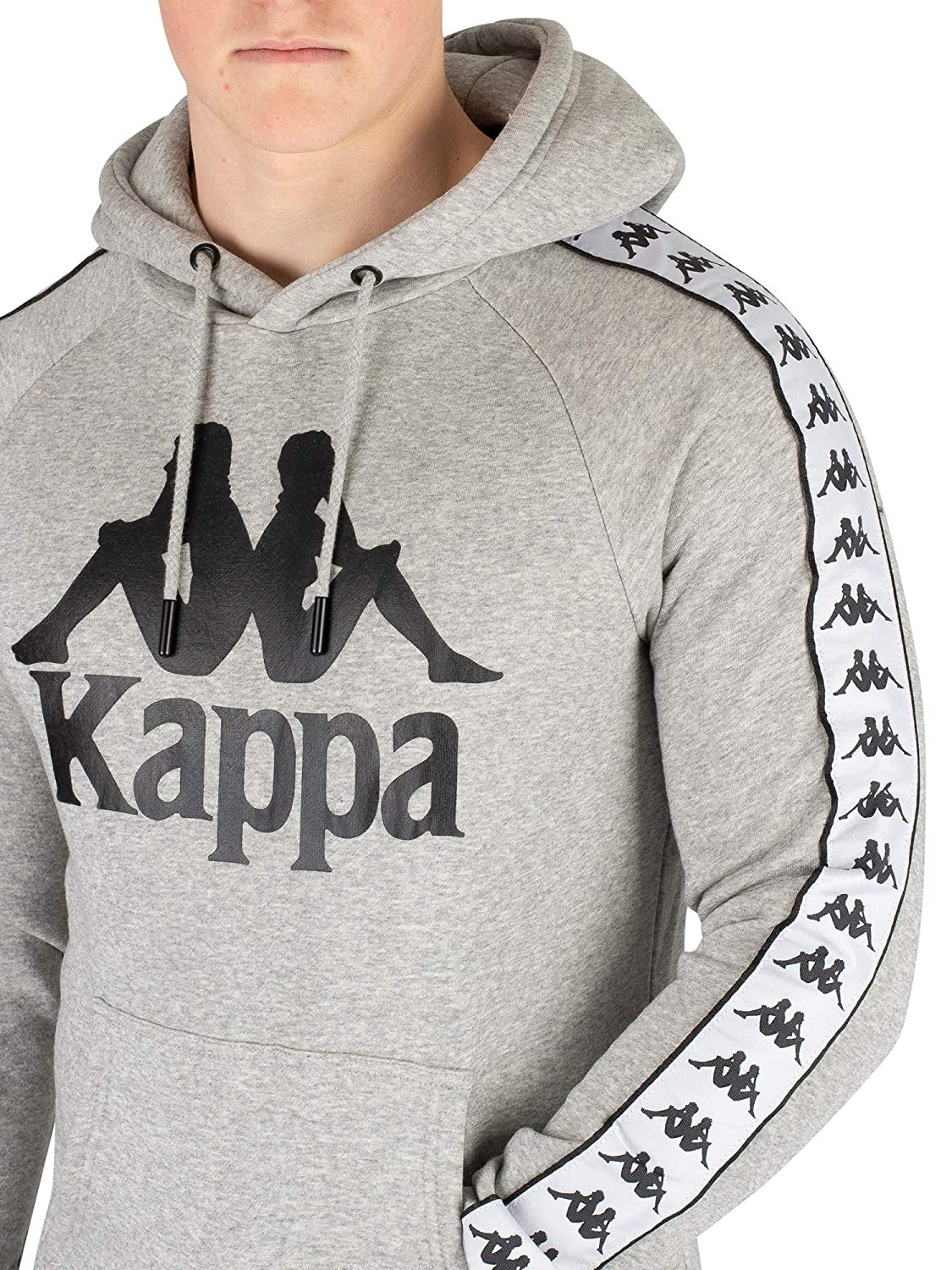 34936e90 Kappa Men's Banda Hurtado Pullover Hoodie, Grey, L at Amazon Men's ...