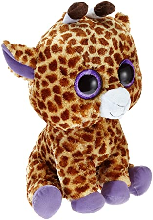 Ty - Safari, peluche jirafa, 40 cm, color amarillo (36801TY)
