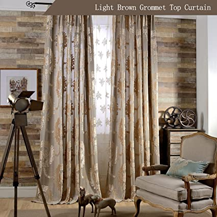 Amazoncom Koting European Luxury Brown Curtain Living Room Royal