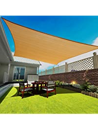 16u0027 X 20u0027 Rectangle Sand Sun Shade Sail, Durable UV Block Shelter Canopy