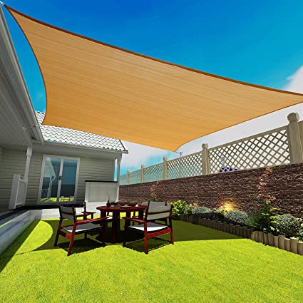 Rectangle Sun Shade Sail,Heavy Duty UV Block Shelter Canopy Cover For Outdoor  Patio Garden