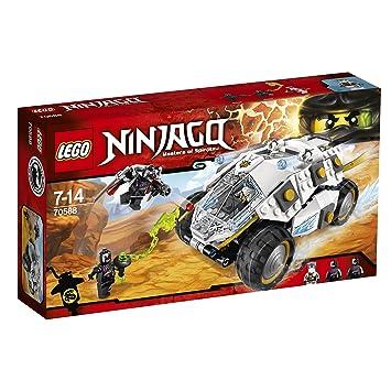 LEGO Ninjago - Tumbler Ninja de Titanio, Juguete de Construcción con Coche de Combate (70588)