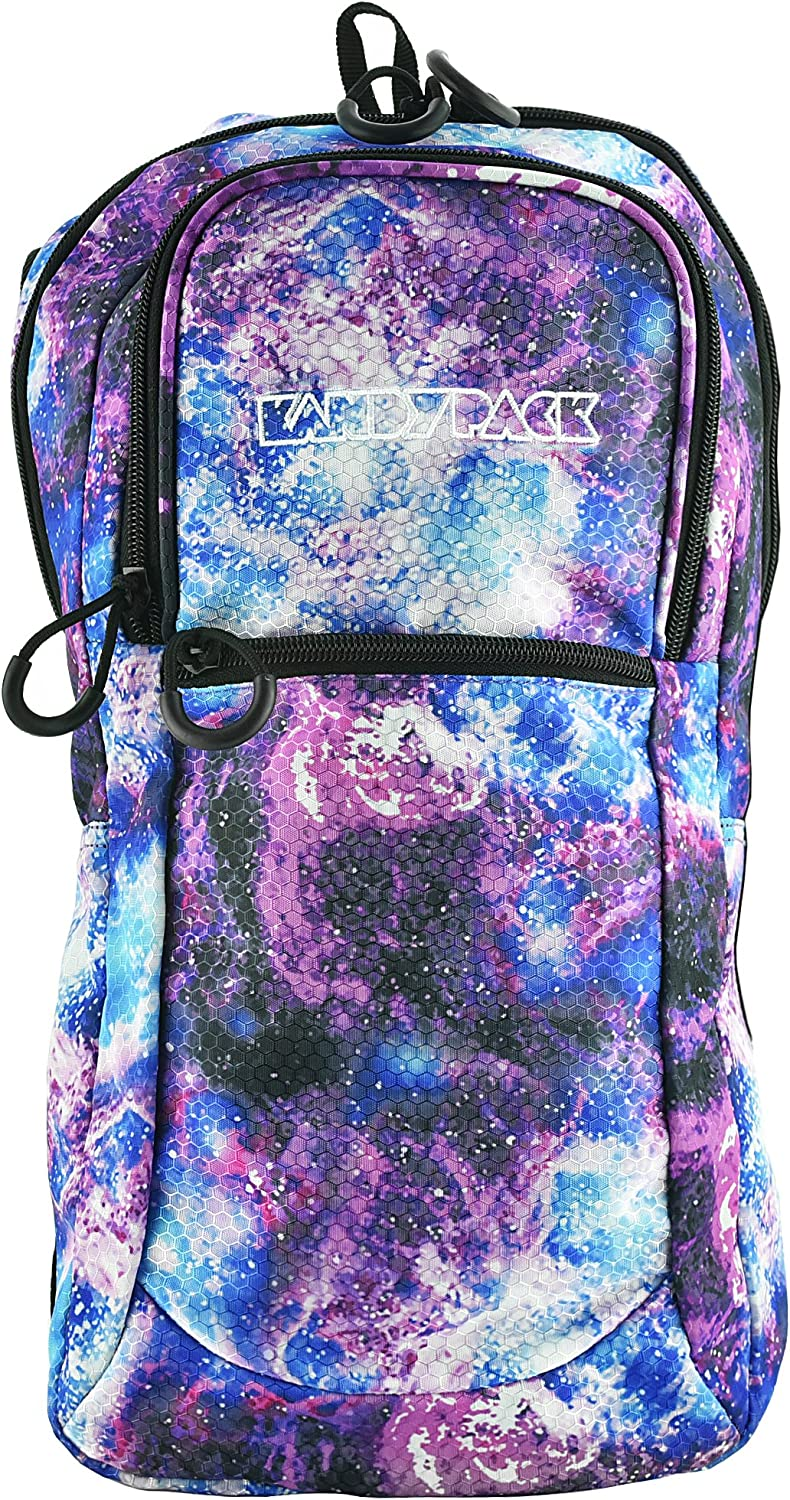 KANDYPACK Rave Hydration Pack Backpack with Water Bladder Galaxy