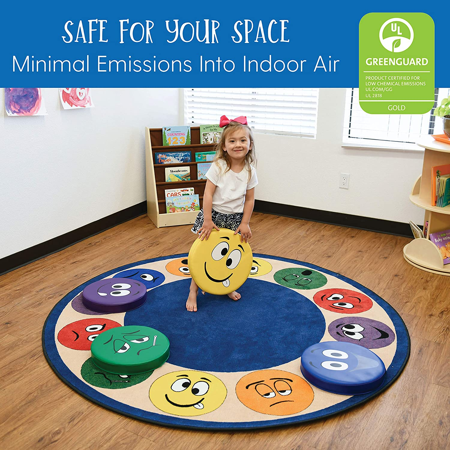 - Assorted Home FDP SoftScape Expression Round Cushions for Kids Flexible Seating; Teach and Learn Emotional Recognition in Classrooms 12-Piece Set Preschools Daycares