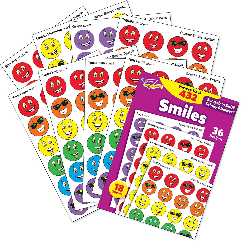 Stinky Stickers Variety Pack, Smiles, 432/Pack: Amazon.es: Salud y cuidado personal