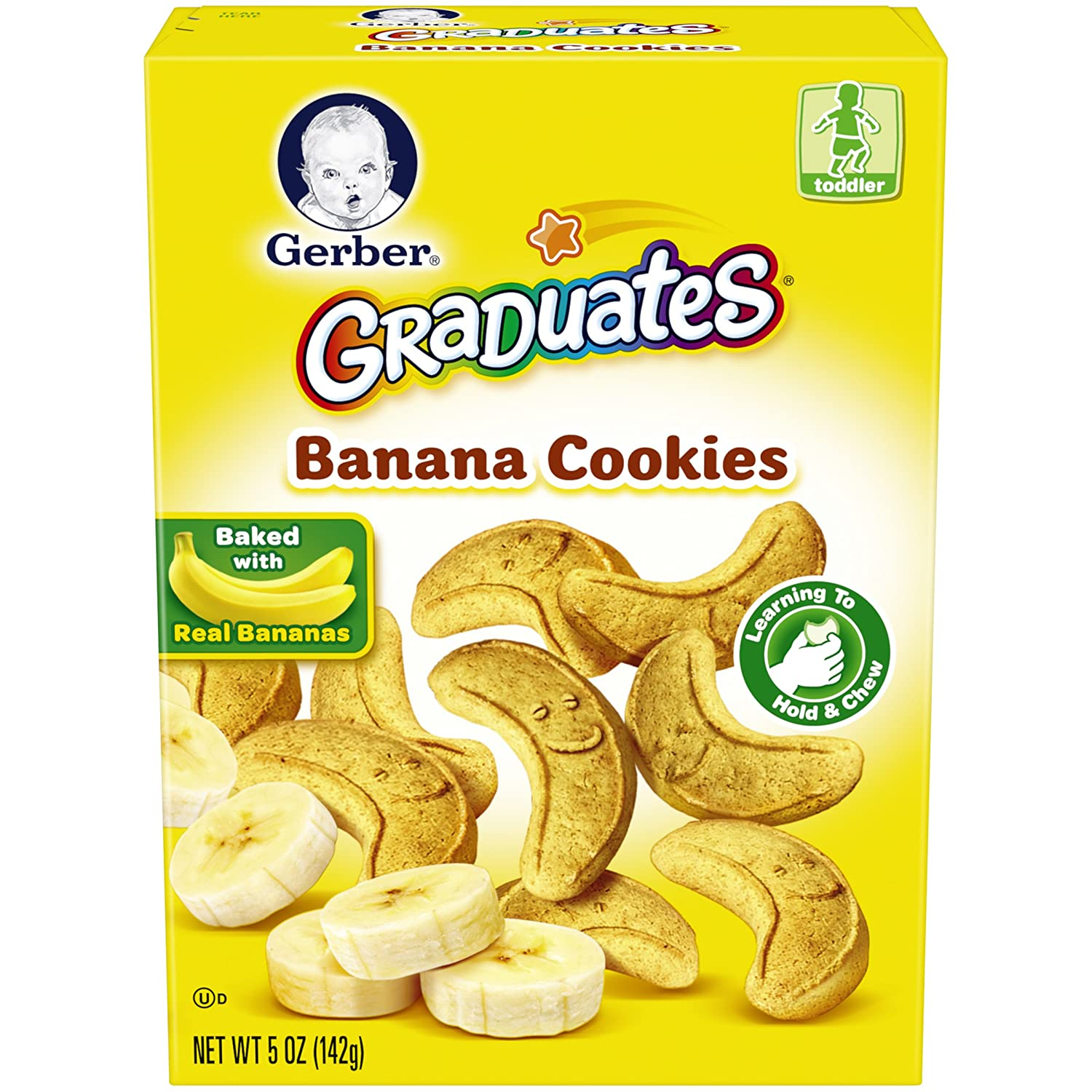 Gerber Graduates Cookies, Banana Cookies, 5-Ounce Boxes (Pack of 12) 12125618