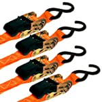 Ratchet Strap Tie Downs With Hooks For Heavy Duty Moving
