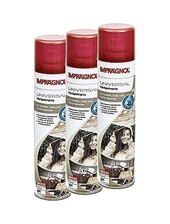 Imprägnol Spray 400ml, 3er Pack: Wetterschutz für Leder, Textilien, Hightechgewebe, atmungsaktiver Schutz vor Nässe und Schmutz mit Membranfunktion