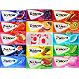 Trident Sugar Free Chewing gums Pack of 14 (Assorted Flavors)