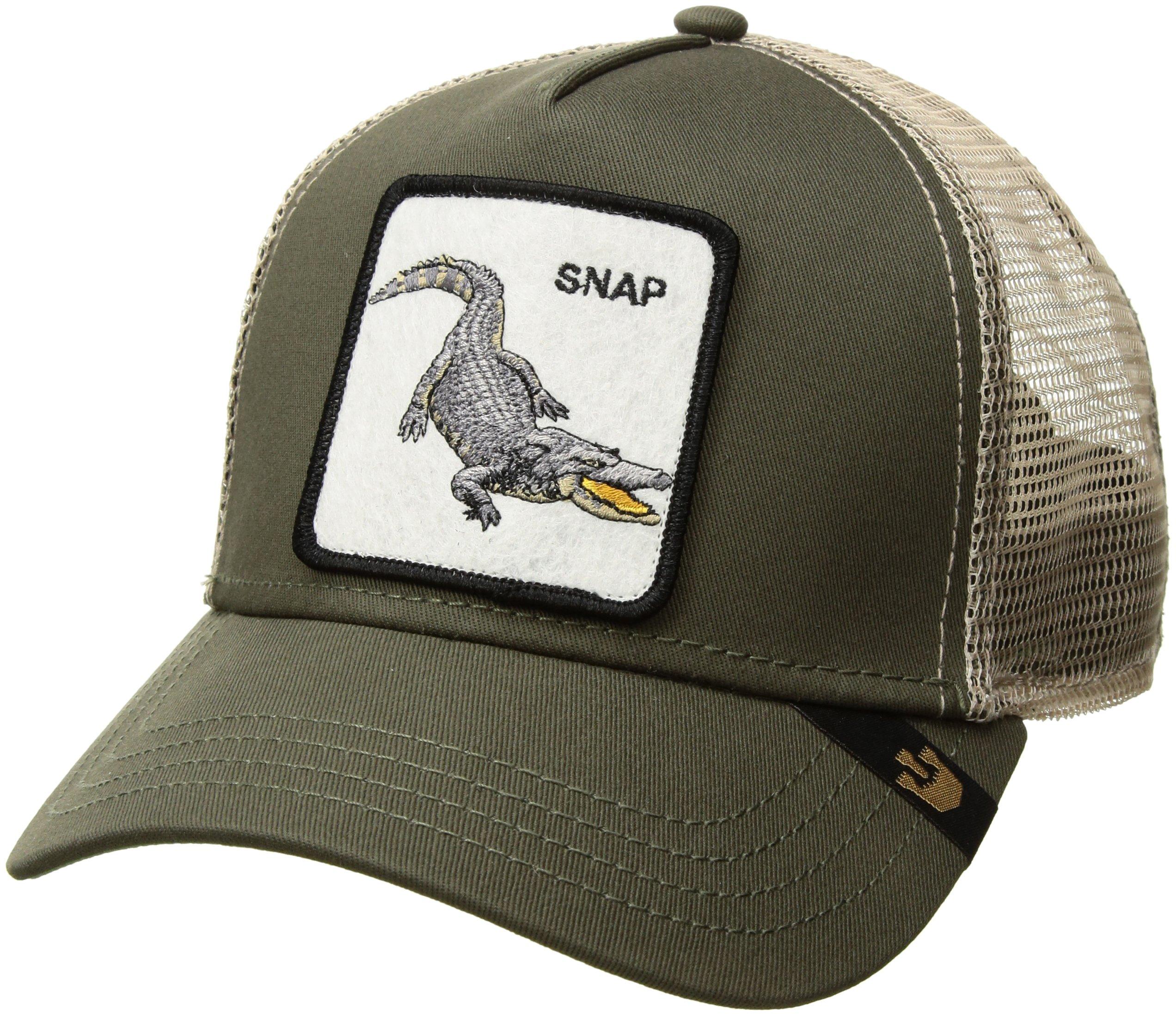 Goorin Bros. Men's Animal Farm Snap Back Trucker Hat, Olive Crocodile, One Size