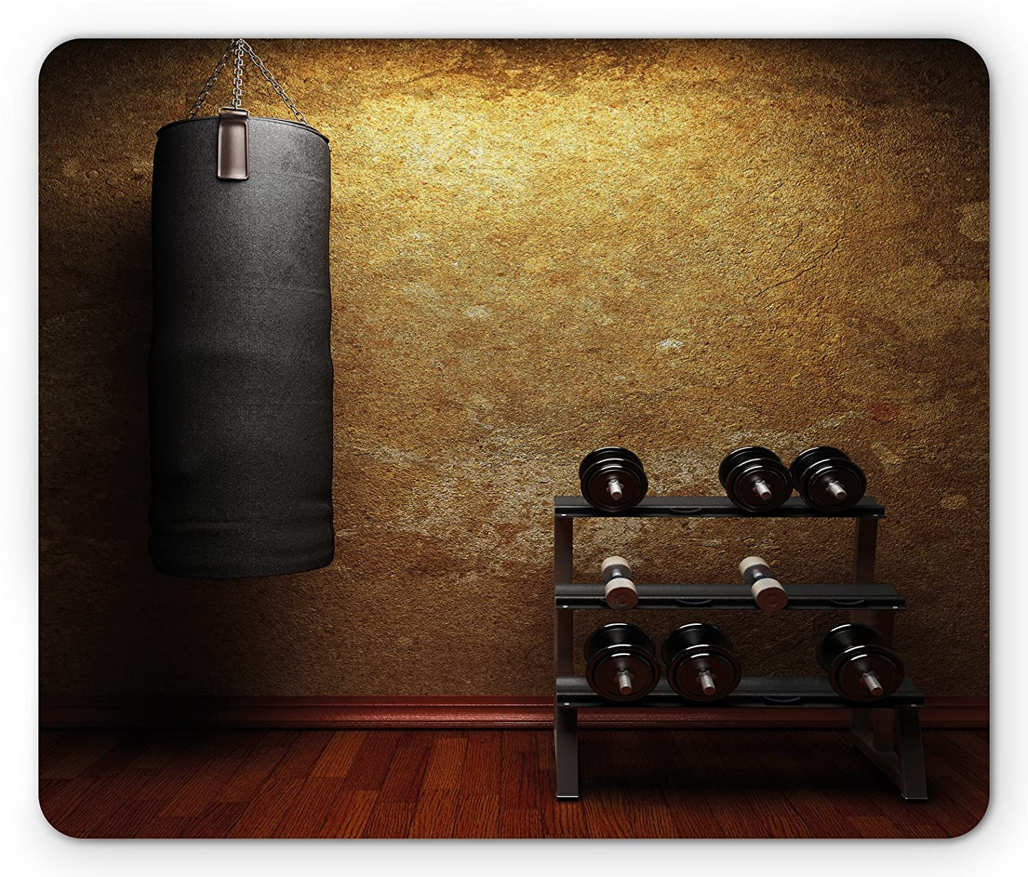 Amazon.com: ambesonne fitness mouse pad gym room with equipments