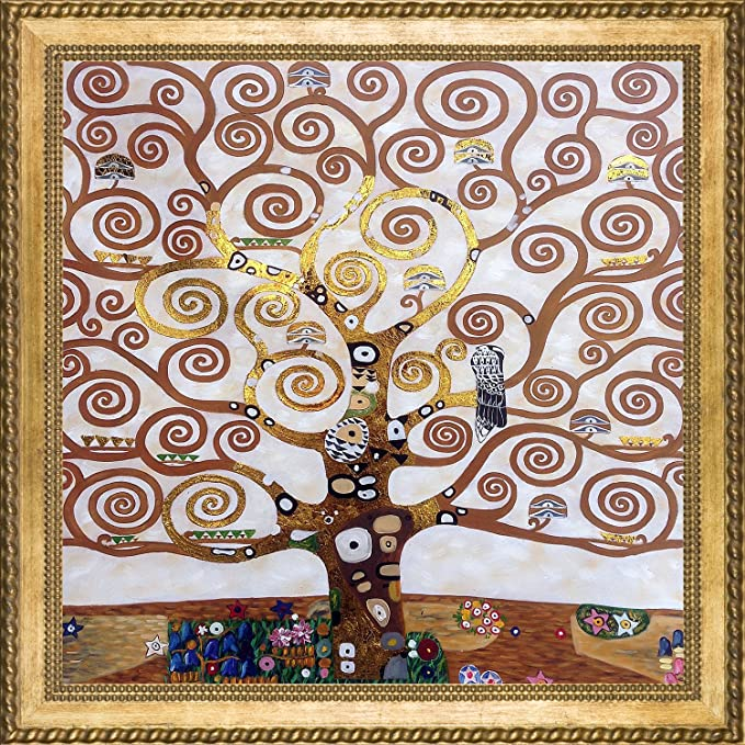 Tree Of Life (Luxury Line) By Gustav Klimt Framed Hand