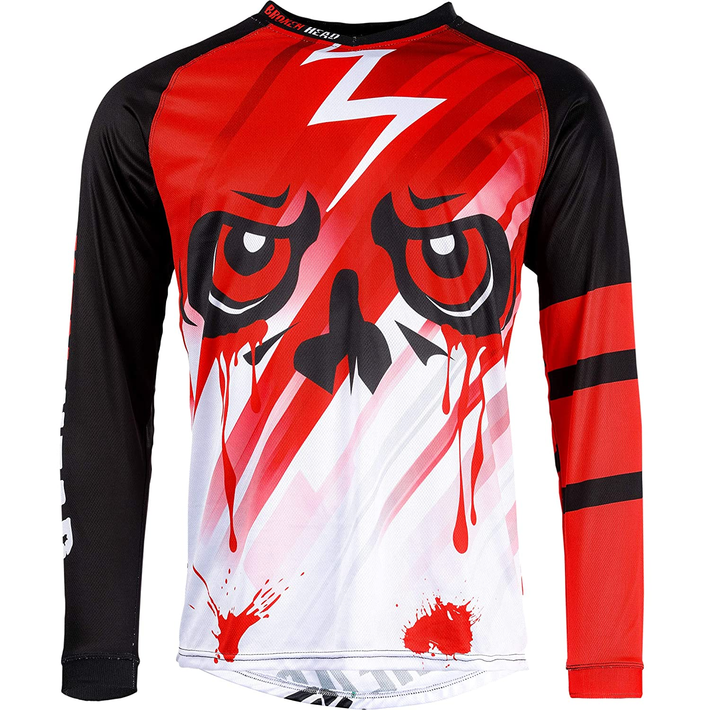 Broken Head MX Jersey Division rot | Moto-Cross Jersey - BMX - Offroad - Trikot - Racing Shirt (XL) Division-28-rot