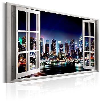 Murando   Bilder Fensterblick 120x80 Cm   Leinwandbild   1 TLG   Kunstdruck    Modern