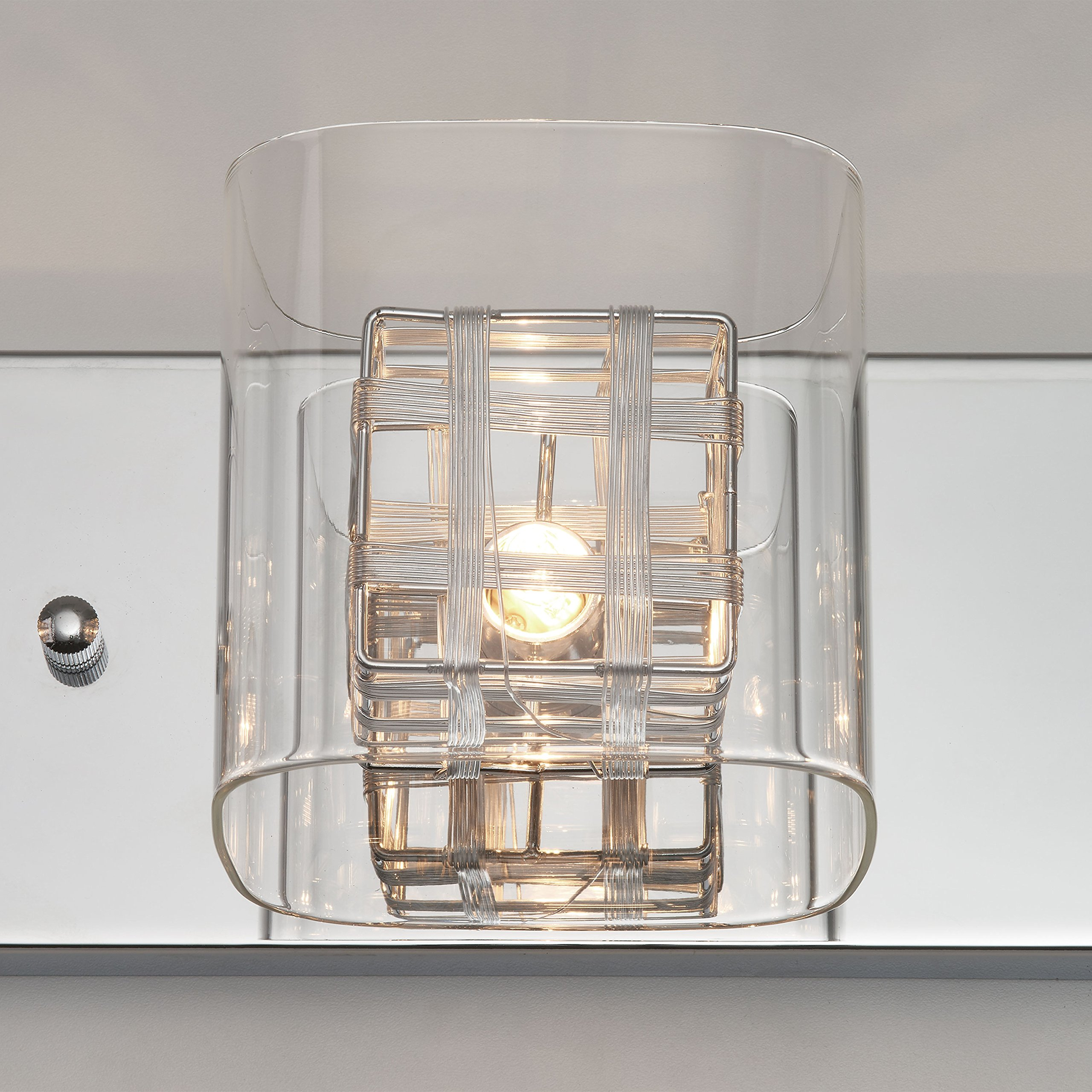 Artika VAN4M-HD1 Metropolitan 4-Light Bulbs, 30-inches Wall Fixture with Dimmable Light and a Chrome Finish by Artika (Image #2)