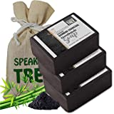 Speaking Tree Specially Formulated and Cold Processed Deodorizing Bamboo Charcoal Handmade Soap to Cleanse Skin Naturally and A Beautifully Refreshing Aroma