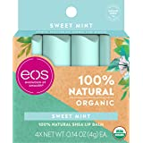 eos Natural & Organic Stick Lip Balm - Sweet Mint   Certified Organic &   Deeply Hydrates and Seals in Moisture   0.14…