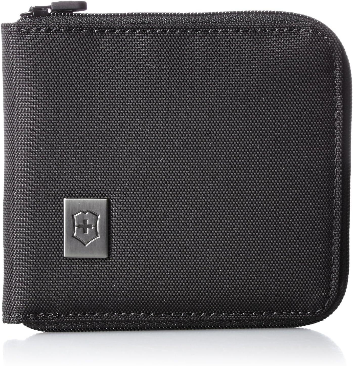 - 31172601 Victorinox Portefeuille zipp/é Black//Black Logo Noir