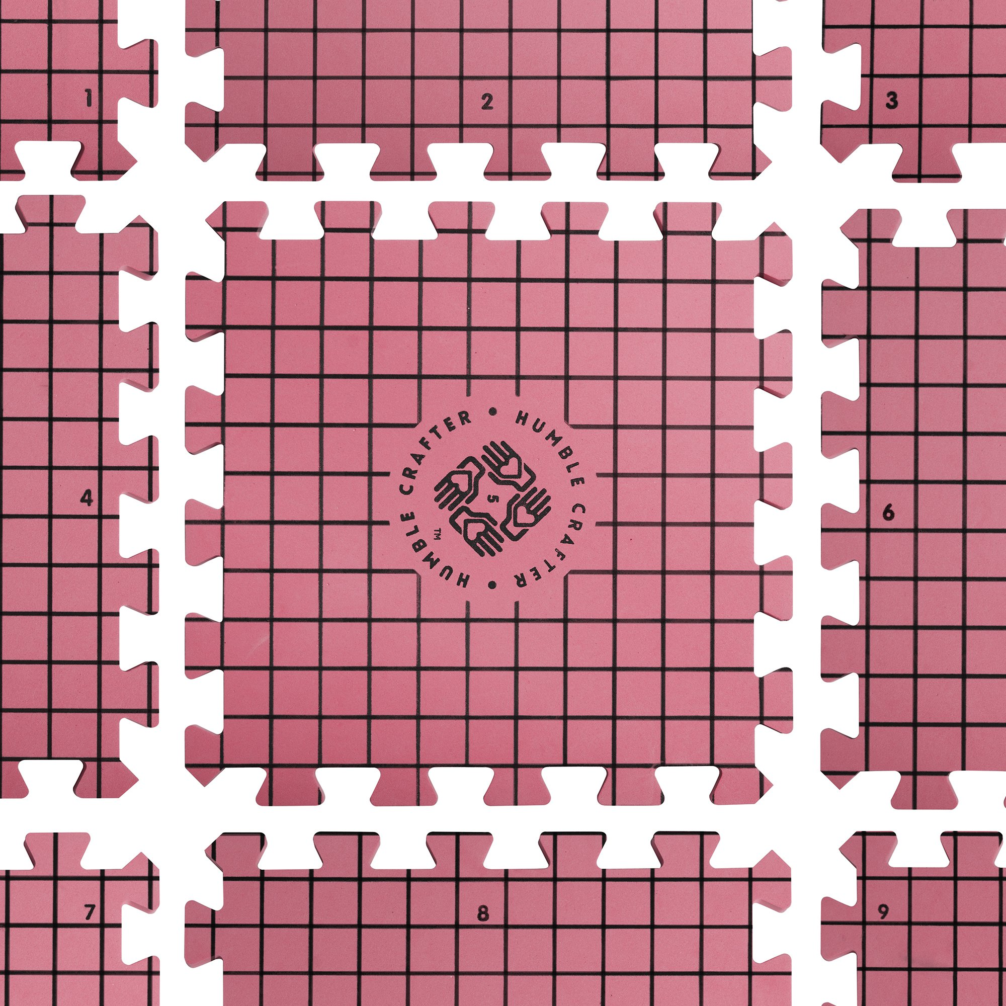 Blocking Mats for Knitting | Extra Thick - with Grids Guaranteed to Align - Includes 100 Stainless Steel T-Pins and 60-Inch Measure Tape... by Humble Crafter (Image #3)