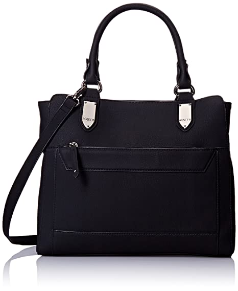 Rosetti Cameron Double Top Handle Bag, Black, One Size