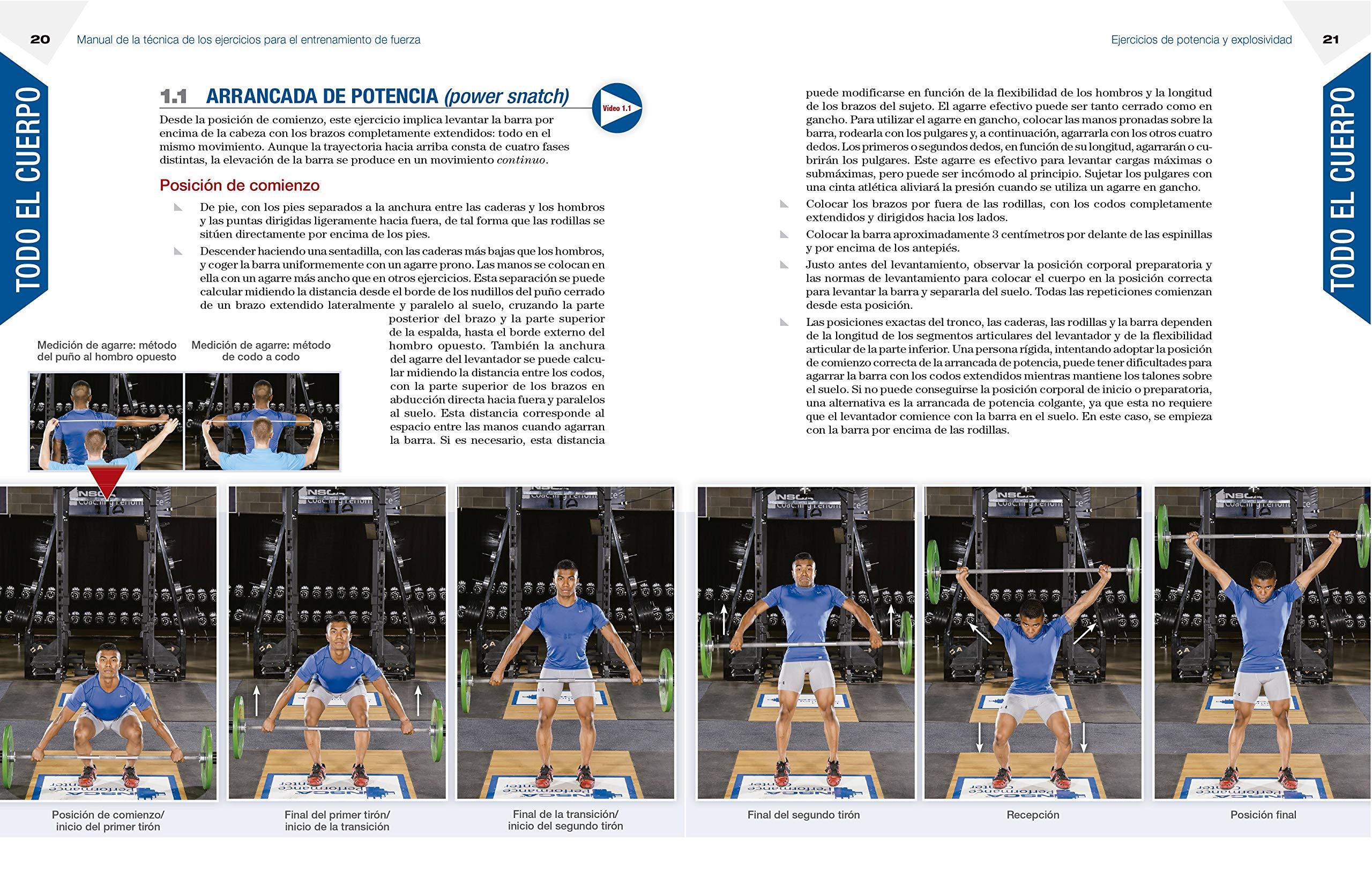 Manual de la técnica de los ejercicios para el entrenamiento de fuerza: VARIOS AUTORES: 9788416676613: Amazon.com: Books