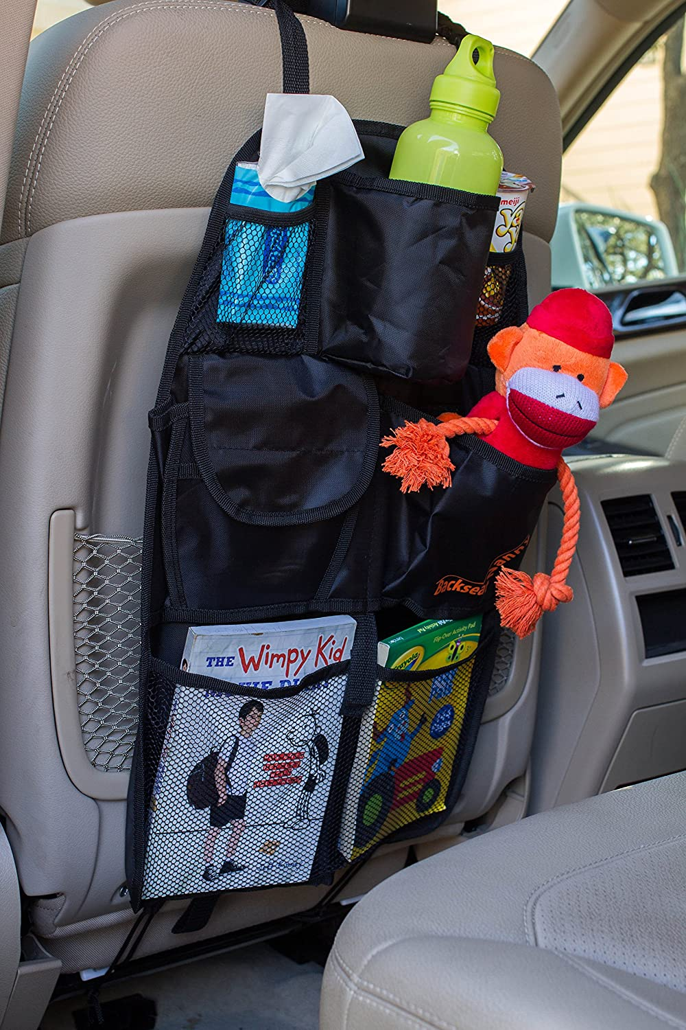 amazoncom back seat car organizer best backseat auto organizer for kids and baby contains pockets for toy storage and is great for travel and pet