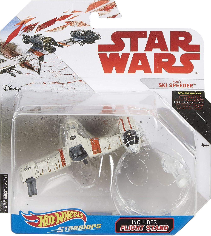 Hot Wheels Star Wars Poe/'s Ski Speeder with Stand