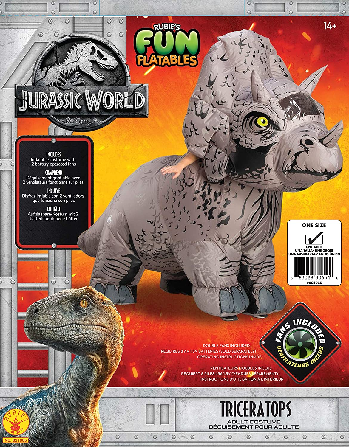 Rubies Adult Jurassic World Inflatable Dinosaur Costume: Amazon.es: Juguetes y juegos