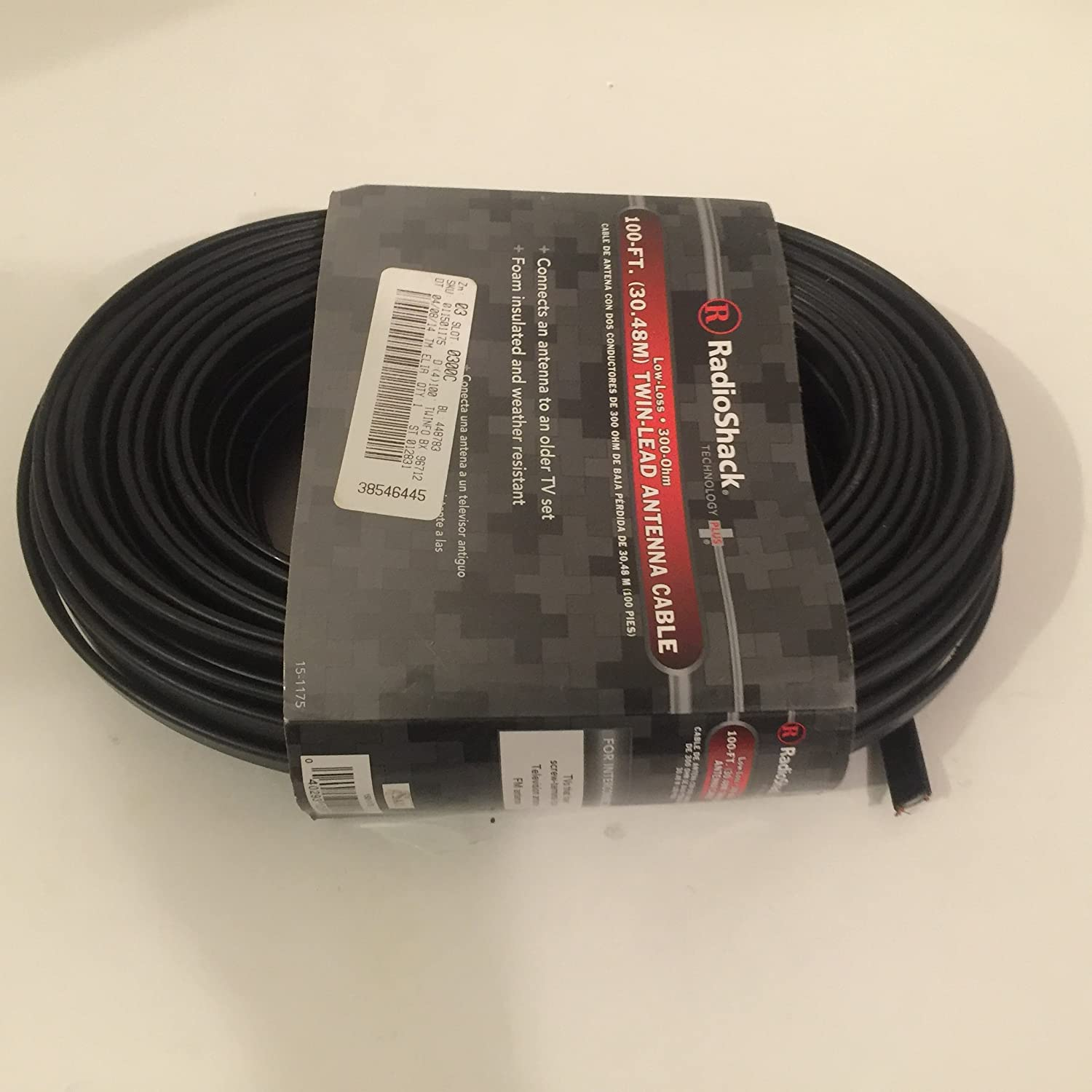 Amazon.com: Radio Shack 100-Ft. 300-Ohm Flat Twin-Lead Cable: Computers & Accessories