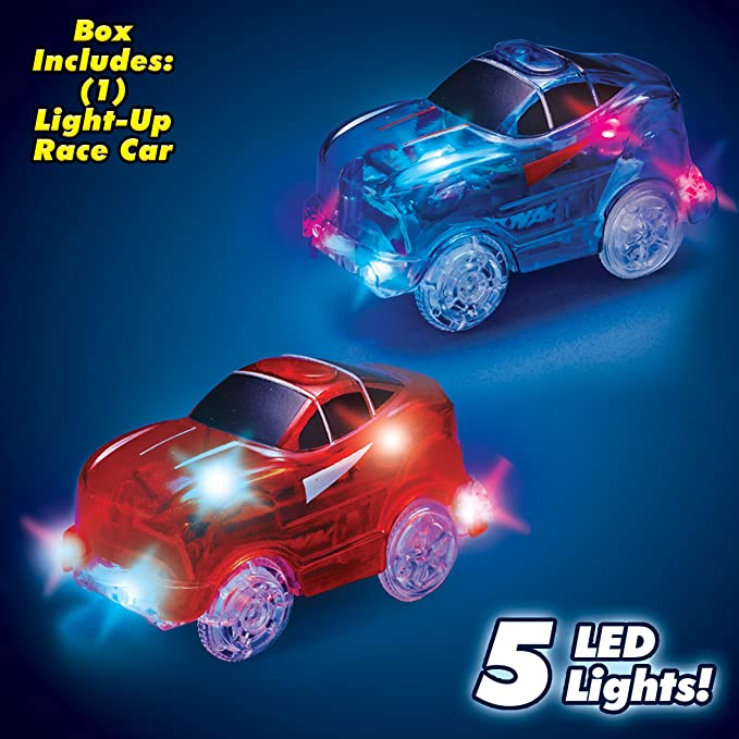 Magic Tracks Flexible Track Set with Bonus Glow in The Dark Car and Wheels  Stunt Car for Kids