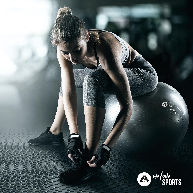 75/cm, Robusto Fitness Pelota y Asiento Ink. Bomba Espalda.//–/Pelota para Gimnasia, Yoga, Pilates//–/Pelota de Yoga para Workout//–/En Muchos Colores /Pelota de Gimnasia Apollo/