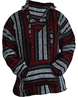 ccd474c71765c Amazon.com   New Baja Hoodie Original Mexican Drug Rug 100% Recycled ...