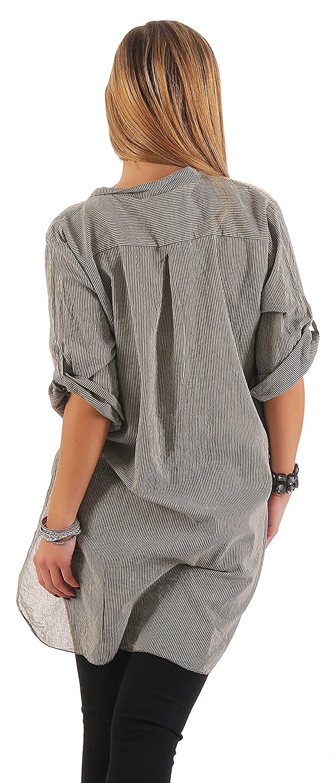 ee596e59227c2 IKONA21 - Fashion Italy Damen Shirt Bluse Tunika Longshirt Onesize SML XL  36 38 40 42 44 500 518