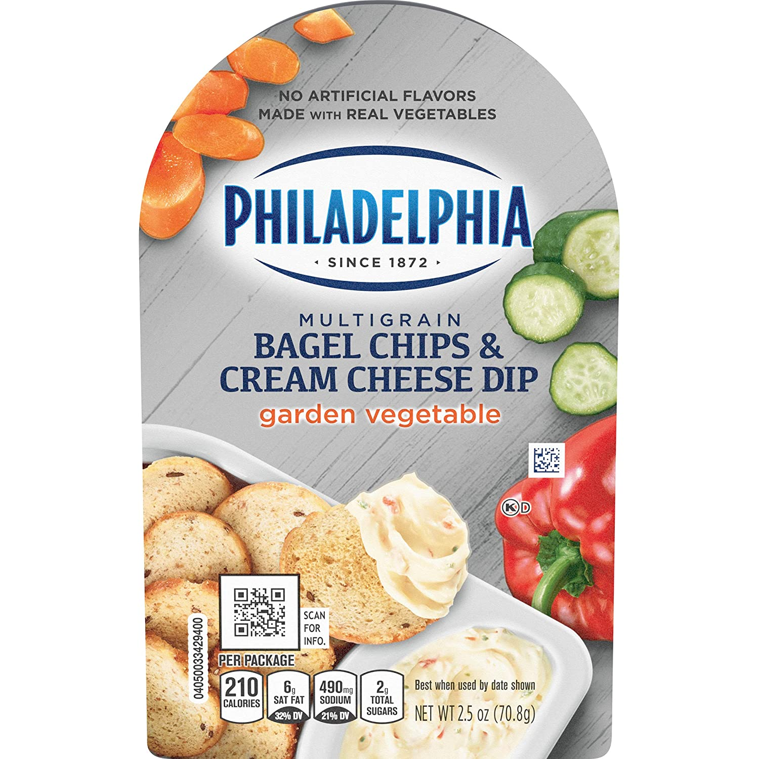 Philadelphia Bagel Chips & Garden Vegetable Cream Cheese Dip (2.5 oz Package)
