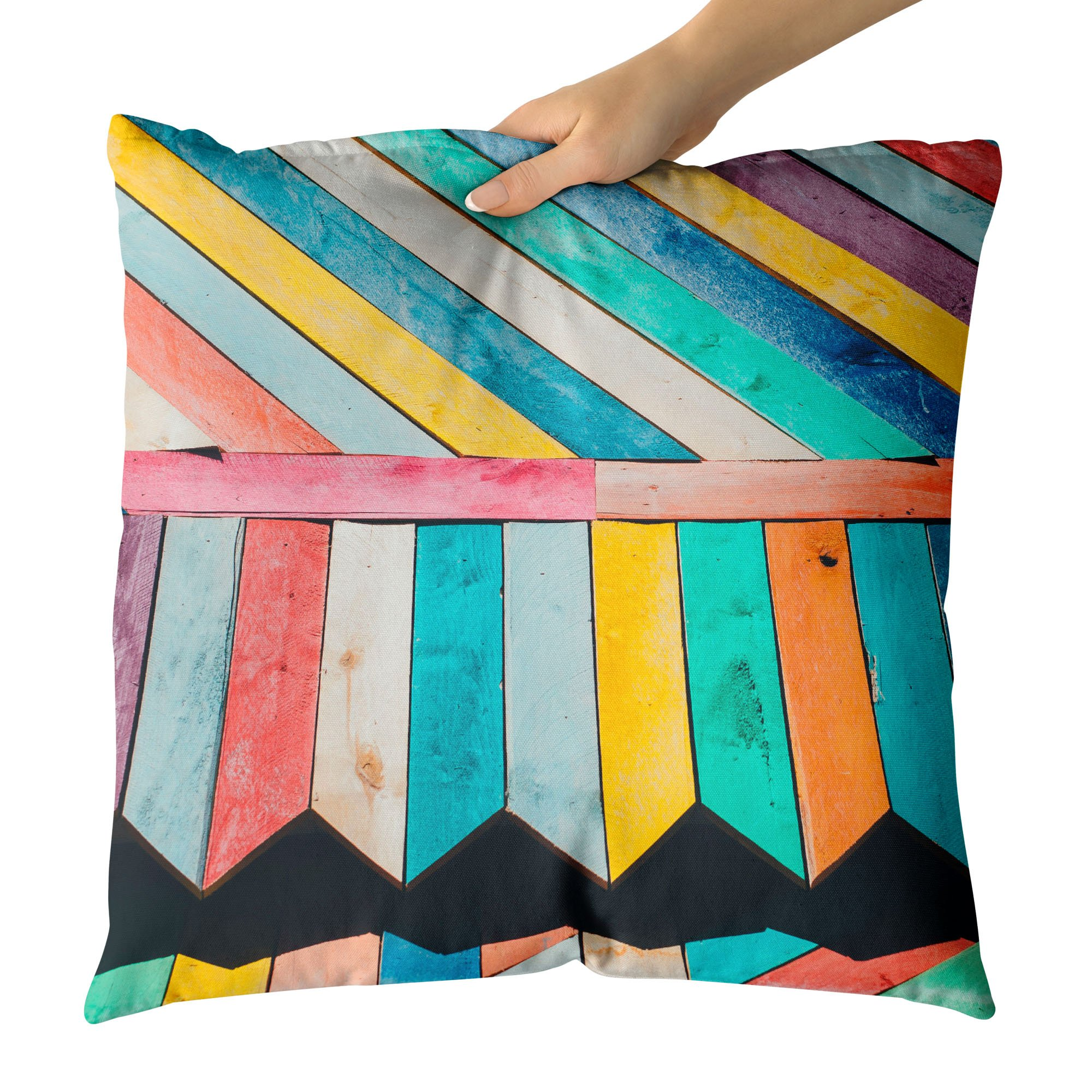 Westlake Art - Wood Plank - Decorative Throw Pillow Cushion - Picture Photography Artwork Home Decor Living Room - 18x18 Inch (6198-DE4EE)