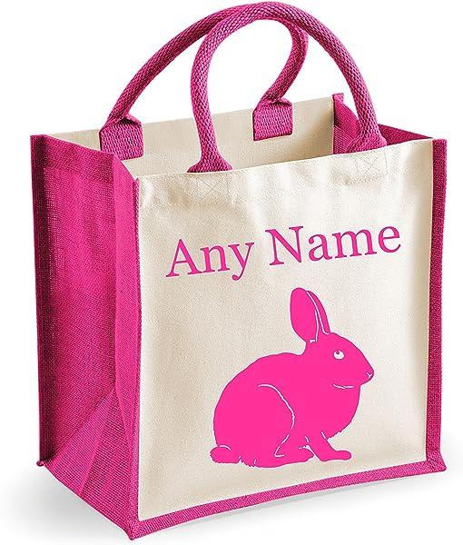 Cotton Canvas  bunny girl messenger shoulder bag