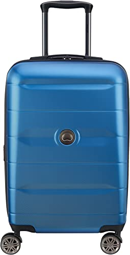 DELSEY Paris Comete 2.0 Hardside Expandable Luggage with Spinner Wheels, Steel Blue, Carry-on 21 Inch