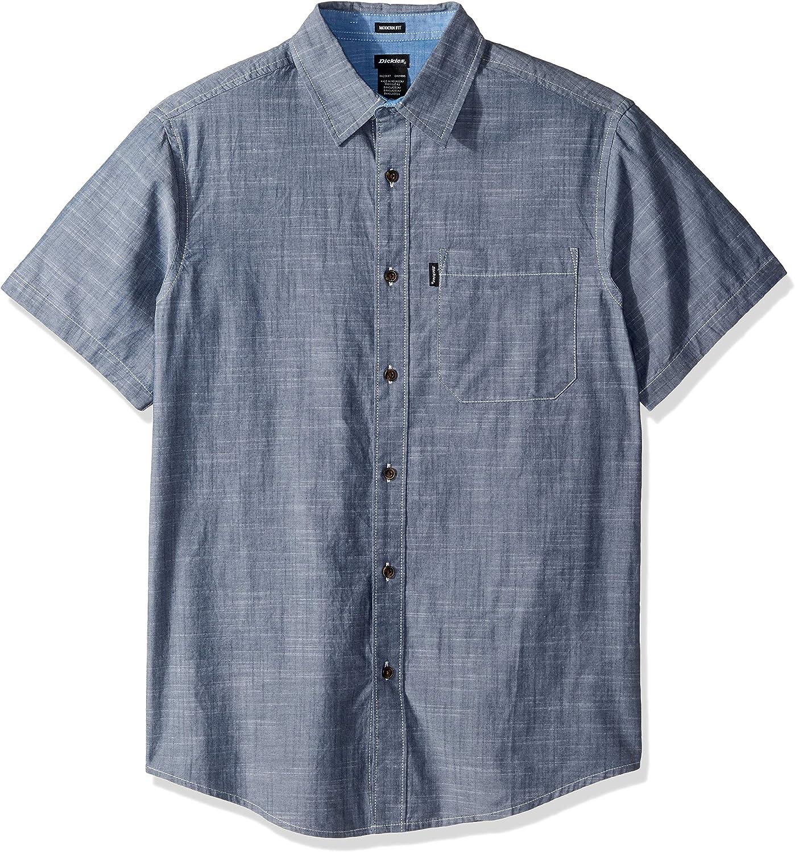 Dickies Camisa Chambray de manga corta de ajuste moderno para hombre