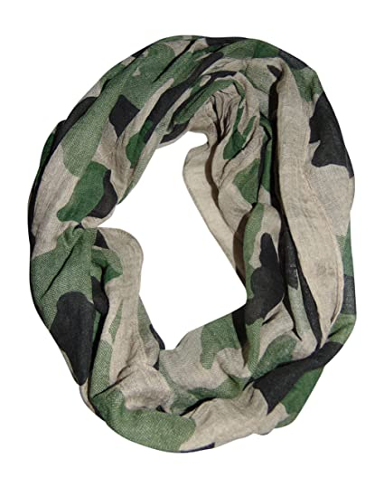 d6a67647a9feb Camouflage Infinity Scarf (Brown/Green) at Amazon Women's Clothing store: